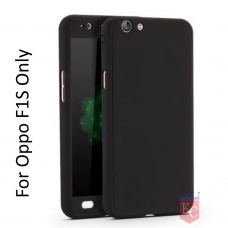 3 In 1 Ultra Thin Hard Coated Matte Surface Back Cover for Oppo F1s - Black
